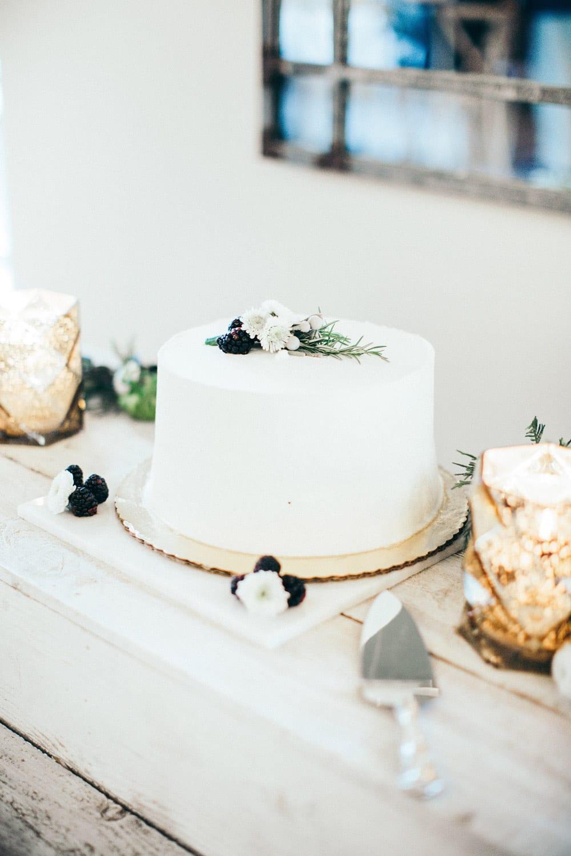Wedding cake on vintage cart