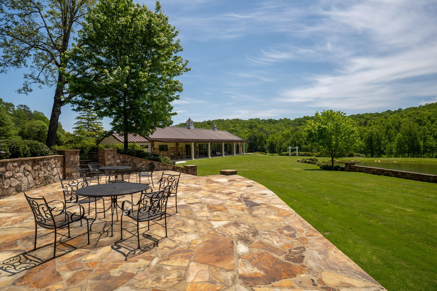 Stone patio and venue